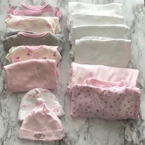 13 pieces baby girl clothes.